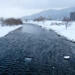 2月25日の豊平川