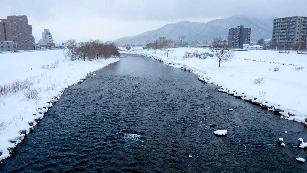 2016年2月25日の豊平川