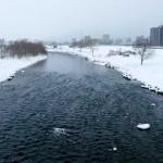 2月26日の豊平川