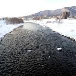 2月3日の豊平川
