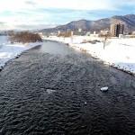 2月4日の豊平川