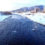 2月6日の豊平川
