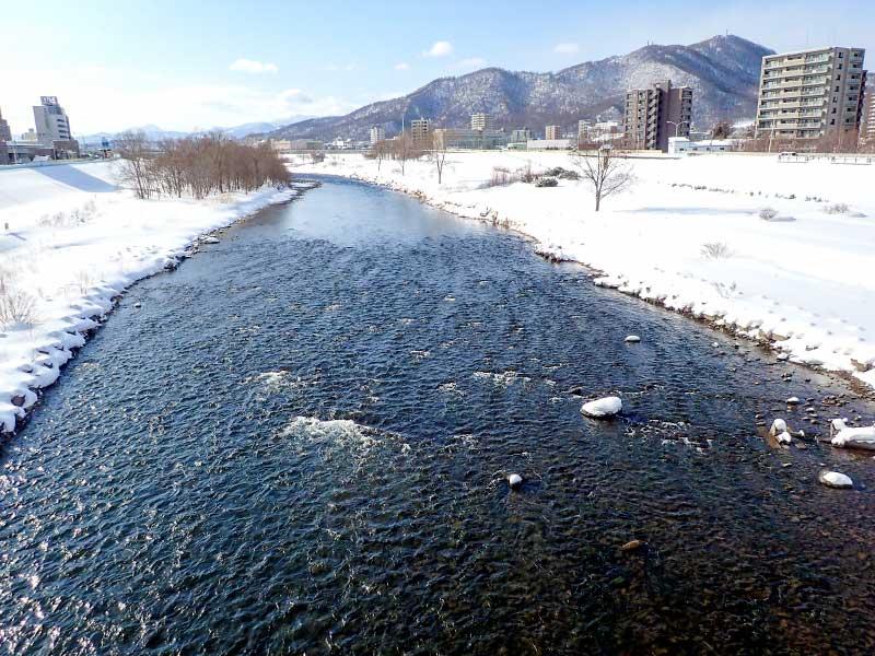 2016年2月11日の豊平川