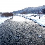2月22日の豊平川