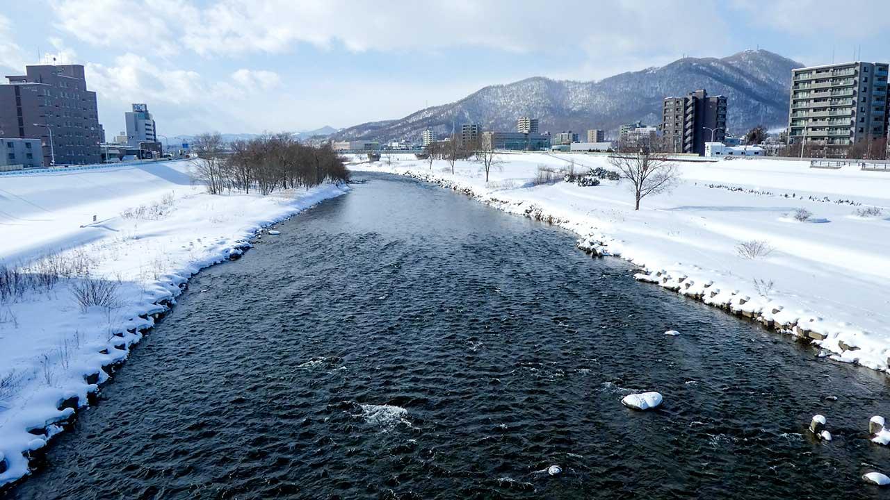 2016年2月27日の豊平川