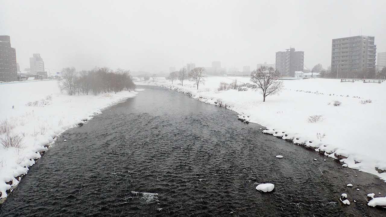 2016年2月29日の豊平川