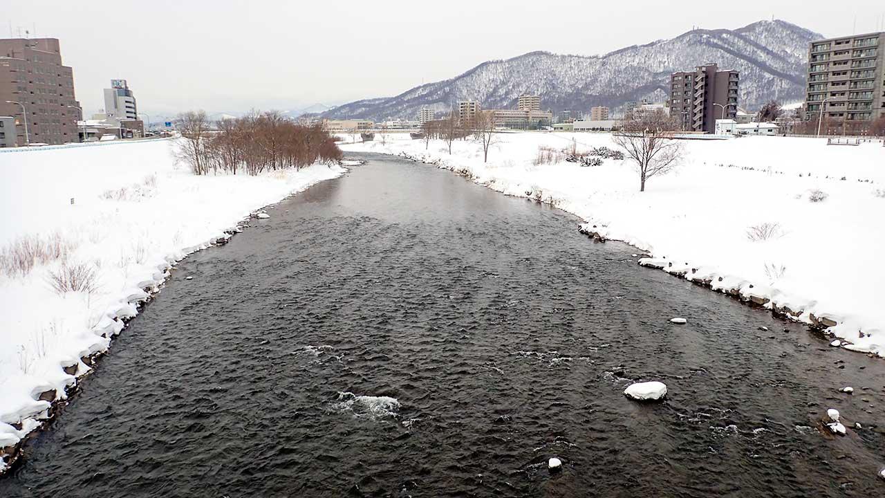 2016年3月3日の豊平川
