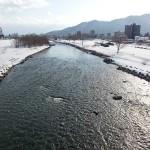 3月16日の豊平川