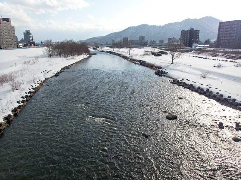 2016年3月16日の豊平川
