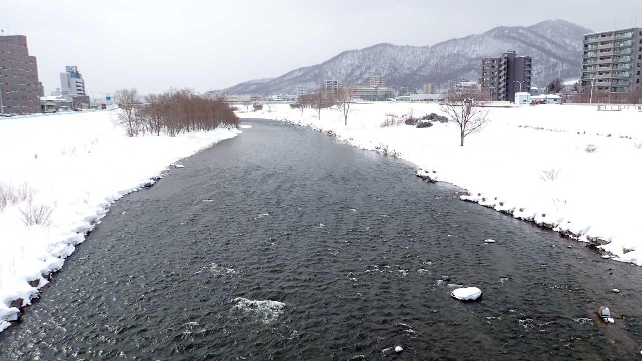 2016年3月1日の豊平川