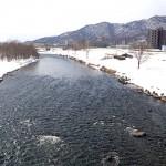 3月9日の豊平川