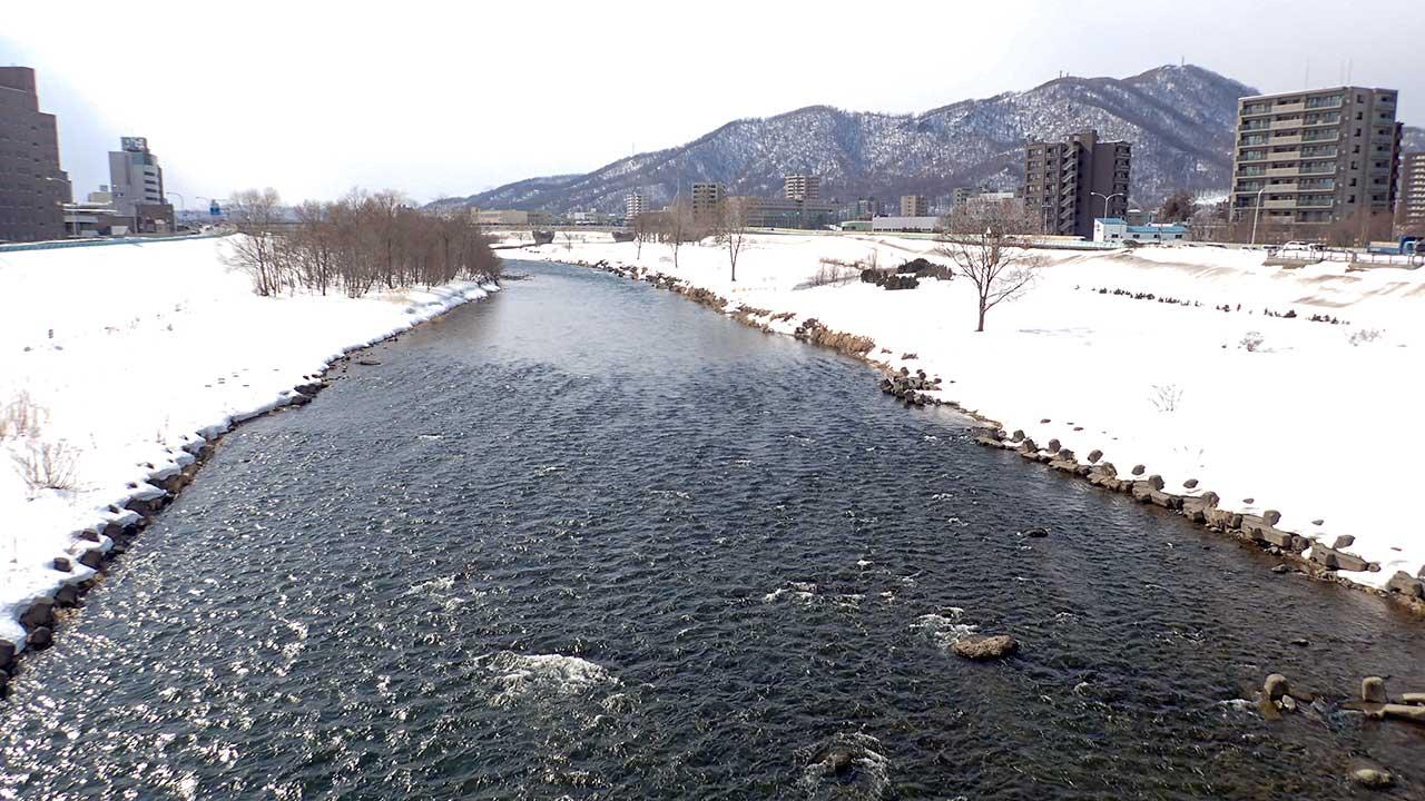 2016年3月9日の豊平川