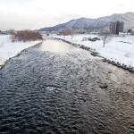 3月11日の豊平川