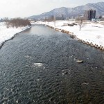 3月14日の豊平川