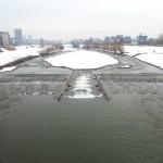 3月18日の豊平川