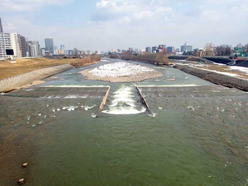 2016年3月31日の豊平川