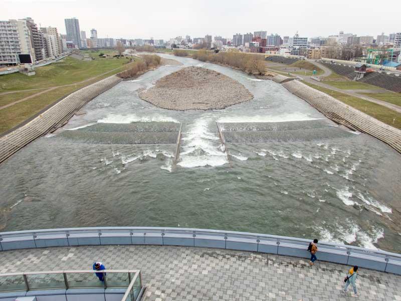 幌平橋から豊平川