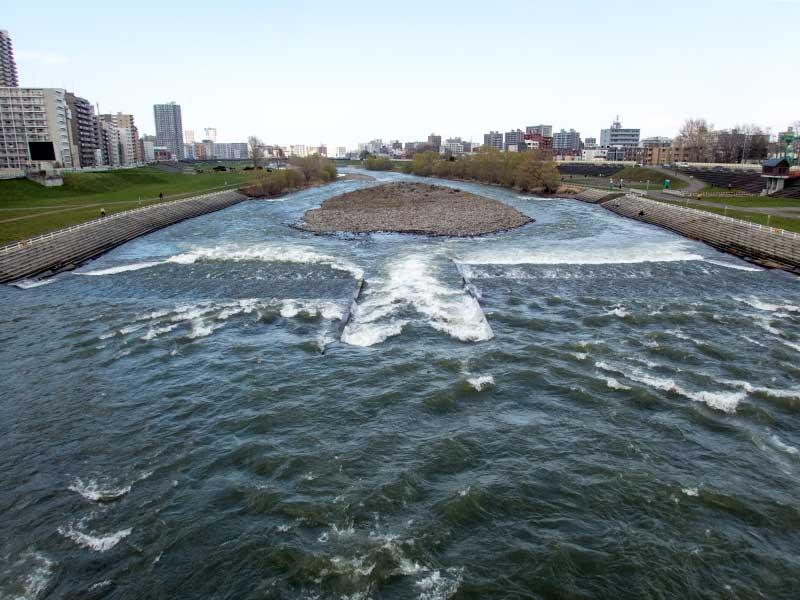 2016年4月24日の豊平川